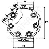 Компрессор кондиционера CARGO 240032 на Alfa romeo GT  1.9 JTD [937A5.000]  11.2003-